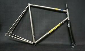 Vintage Litespeed Classic Titanium Road bike carbon fork, 700c, Large frame set.