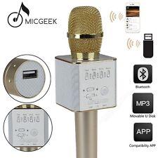 GOLD Q9 Bluetooth Karaoke KTV Microphone Wireless Player speaker For Cellphone