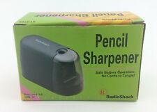 RadioShack Battery Operated Pencil Sharpener, 61-2593 Black Color New