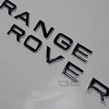 CHROME BLACK LIP EDGE TAILGATE REAR BACK BADGE fits RANGE ROVER VOGUE SPORT