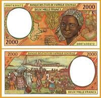 CENTRAL AFRICAN STATES CONGO 2000 FRANCS 2000 , UNC , P-103Cg