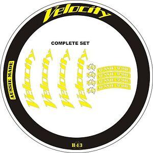 VELOCITY B43 - WHEEL DECALS