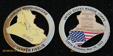 HMM764 MOONLIGHTERS IRAQI VICTORY 11-10-05 CHALLENGE COIN MCAS MOON FROG USMC CO