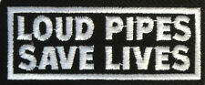 LOUD PIPES SAFE LIVES - Patch - Kutte - Aufnäher - Streetfighter