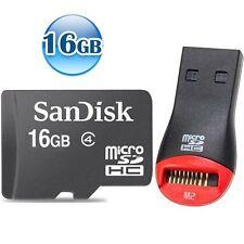 SANDISK CLASS 4 microSDHC 16GB 16G microSD micro SDHC TF Flash Memory Card +