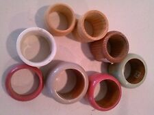 (8) Assorted Wood/Colored of all sizes Bottle Rings