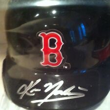 Kevin Youkilis Signed Auto Mini Helmet With COA