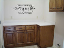 LAUNDRY ROOM SORTING OUT LIFE ONE LOAD AT A TIME  WALL QUOTE DECAL VINYL WORDS