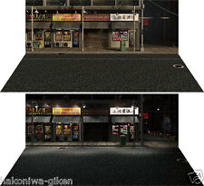 [HAKONIWAGIKEN DSmW-F002 430x302mm] Diorama paper sheet mini-W Asian street
