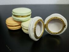 Two's Company Macaron Limoge Trinket Box, 4 colors