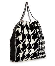 Stella McCartney NWT Falabella Faux Fur Houndstooth Shoulder Bag RETAIL $1395