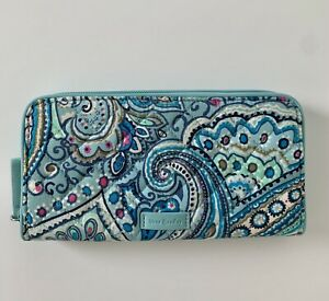 NWT Vera Bradley Iconic RFID Georgia Wallet Daisy Dot Paisley MSRP $50
