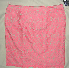 14 ~ apt 9 ~ tea rose ~ short lace pencil skirt ~ 14 ~ NwT
