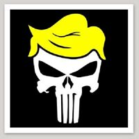 Trump Punisher Hair Color Vinyl Decal Sticker Window Truck Car Wall Laptop