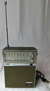 RCA Sepia Brown AM/FM Solid State Radio RZM 170 T AC/Battery Power Vintage