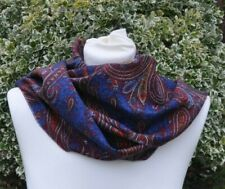 New scarf in Liberty Varuna Paisley style maroon red blue ochre purple multi