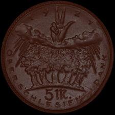 """SCHLESIEN: 5 Mark 1921 """"Oberschlesiens Dank"""".  OBERSCHLESIEN - GÓRNY ŚLĄSK."""