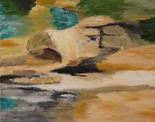Landschaft Acrylbild Wandbild Leinwand Signiert Gemälde 40 x 49 cm