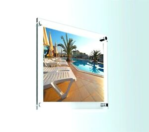 A4 Acrylic Wall Mount Poster Holder / Picture Frame Photo Display Clear Perspex