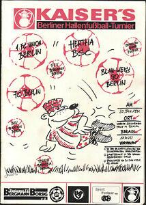 20.01.1991 HT Berlin mit 1. FC Union, Hertha BSC, FC Berlin, Blau-Weiß 90, TeBe