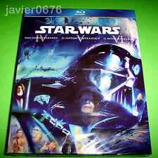 STAR WARS EPISODIOS IV - V - VI EN BLU-RAY PACK NUEVO Y PRECINTADO