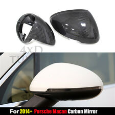 Car View Mirror Cover Replacement Carbon Fiber Side View For Porsche Macan 2014+