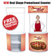 Promotional Counter Food Tasting Demo Counter Trade Show Pop Up Banner Display