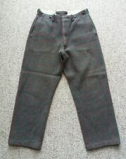 Vintage Heavy Wool Gray Pants Hunting Winter Outdoor Work 30 X 28 Woodsman
