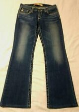 Women's Big Star Remy Low Rise Dark Wash Distressed Fade Jeans Size 28