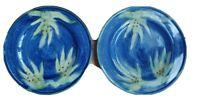 "Nanette Vacher for Ambiance Collections Ciel Bleu 9"" Plates set of 2 Blue Green"