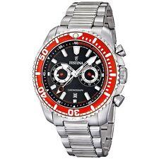 Festina  F16564/8  Montre Homme Quartz Chrono rouge Bracelet Acier Inoxydable