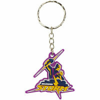 NRL Key Ring - Melbourne Storm - Rubber Keyring - Rugby League - BNWT