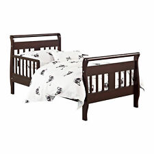 Toddler Bed Frame Bedroom Furniture Baby Kids Children Wood Espresso New