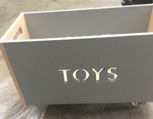 Nico & Yeye Rolling Toy Box Chest in Grey/Birch