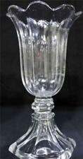"Two Glass Tulip Vases 10.5"" Tall Pre-owned"