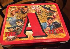 Vintage 1983 The A-Team Original Metal  Lunch Box  No  Thermos  Mr. T
