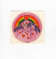 Rare Vintage 80's Pink EHM Unicorns in Love Sticker