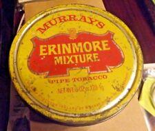 Vintage Murray's Erinmore Mixture Tobacco Tin Design Advertising Packaging 6 oz