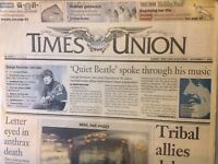 Times Union Magazine Tribal Allies Delay Fighting December 1, 2001 102317nonrh2