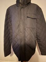 Men's Fat Face Brown Quilted Jacket Size L Large Coat Warm Fitted Smart Casual