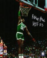 ROBERT PARISH Signed Boston Celtics Action Dunk 8x10 Photo w/HOF'03 - SCHWARTZ