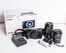 Canon EOS M3 24.2MP Digital SLR Camera + 2 lenses - MINT*
