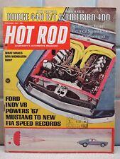 HOT ROD MAGAZINE FEBRUARY 1967 - DODGE 440 R/T FIREBIRD 400 MUSTANG INDY V8