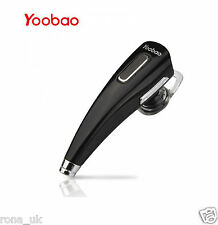 Yoobao Black Bluetooth Handsfree Headset Earphone for Iphone X,8,7,6 ect