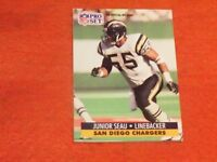 junior seau (San diego chargers-lb) 1991 pro set card #645 mint condition