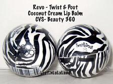 (1) Revo Twist & Pout CVS Beauty 360 Coconut Cream Lip Balm - Discontinued