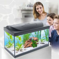 Starter Aquarium Fish Tank Complete Set Up Heater Filter Light Cover & Food 54L