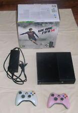 Microsoft Xbox 360, 250 GB / Go, Konsole schwarz, 2 Controller, Stromkabel, OVP
