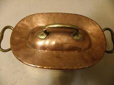 Antique  copper daubiere roasting pan