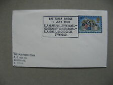 UK GB ENGLAND, cover 1980, spec. canc. Wales longest town name, bridge